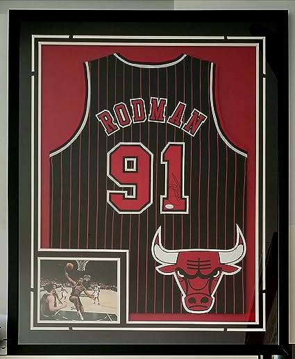 best service 2e5eb 22716 Dennis Rodman Autographed Signed Jersey Framed Chicago Bulls ...