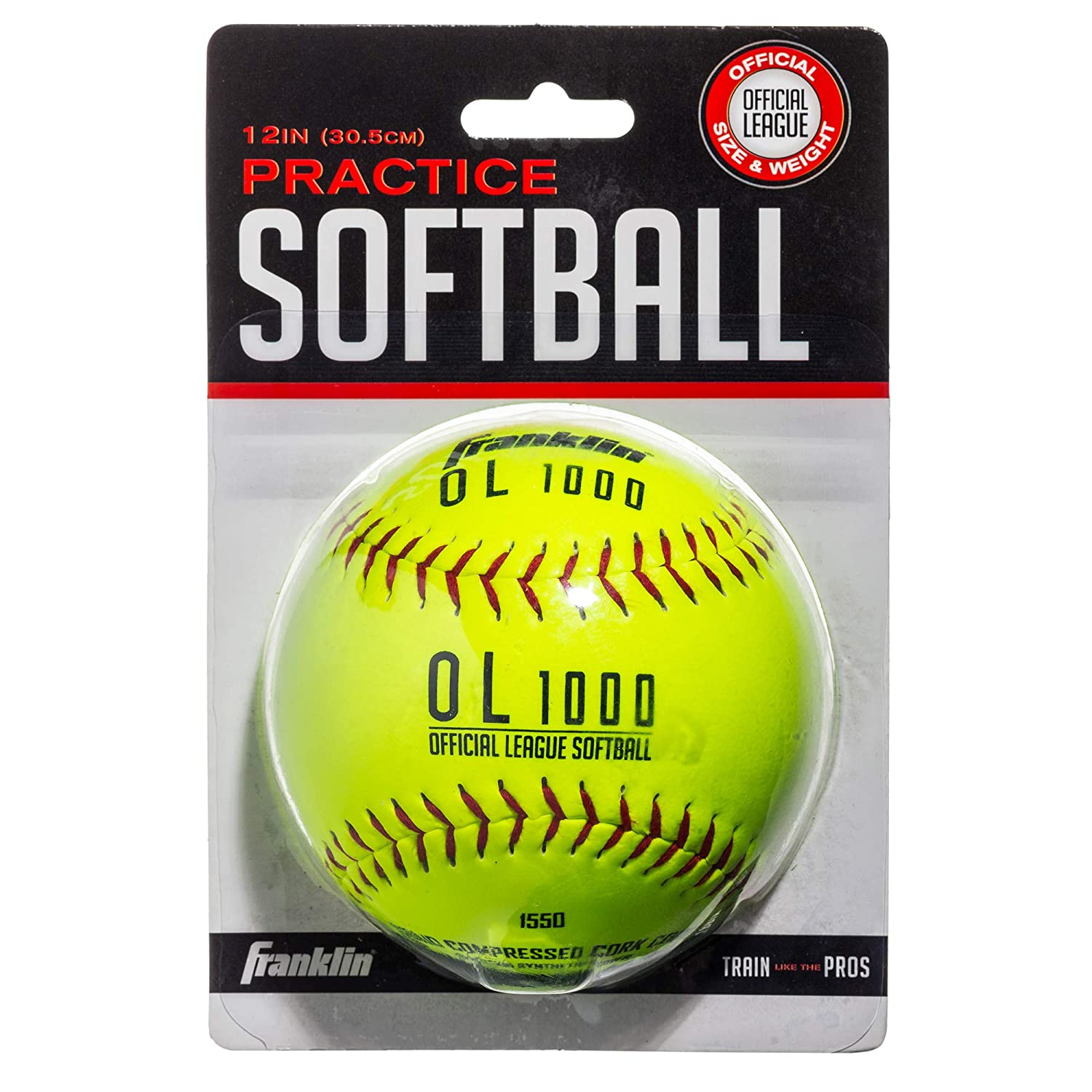 Available in 1 and 4 Pack Perfect For Softball Practice Franklin Sports Practice Softballs Official Size and Weight Softball