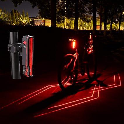 Luces de LED para bicicletas accesorios bicicletas USB recargable impermeable