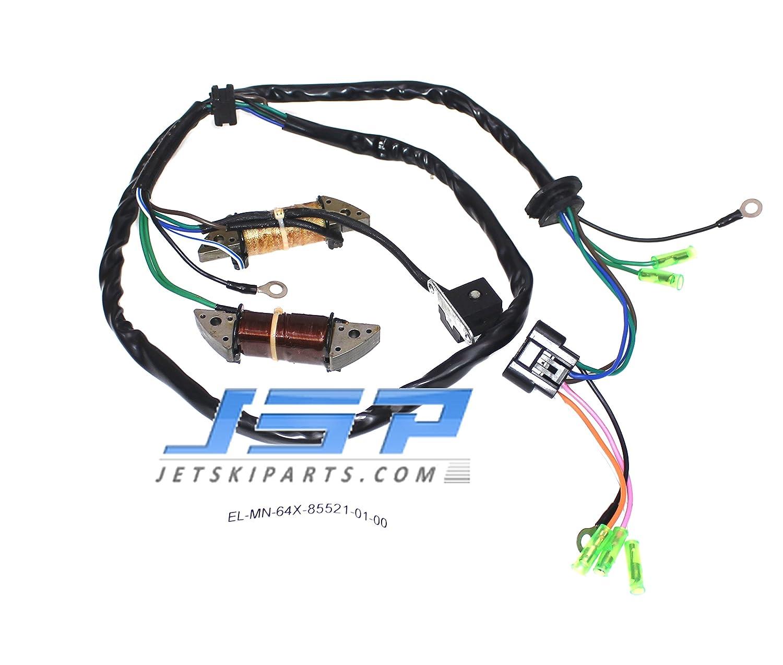 Stator Magneto Compatible with Yamaha 760 Wave Raider Blaster Runner OEM# 64X-85521-00-00// 64X-85521-01-00 JSP Manufacturing