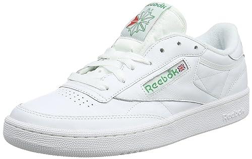 44462a919 Reebok Men s Club C 85 Archive White Glen Green Excellen Leather Tennis  Shoes-