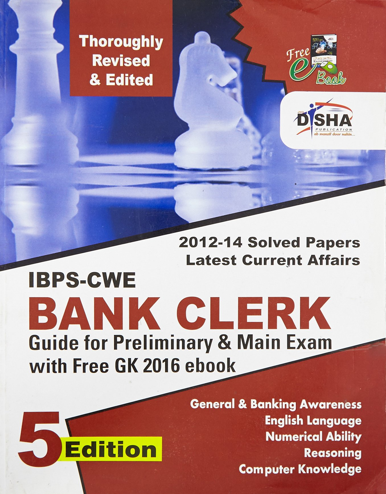 New IBPS-CWE Bank Clerk Guide for Prelim & Main Exams 5th English Edition  Paperback - 2015: Disha Experts: 9789385576560: Amazon.com: Books