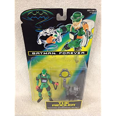 "5"" Jim Carrey As the Riddler Action Figure with Trapping Brain-Drain Helmet! - Batman Forever: The Movie: Toys & Games"