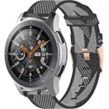 TERSELY Replacement Band Strap for Samsung Galaxy Watch 3 45mm/Galaxy Watch 46mm/Gear S3, 22mm Breathable Woven Fabric…