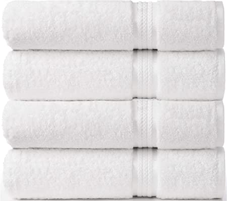 Cotton Craft Ultra Soft 4 Pack Oversized Extra Large Bath Towels 30x54 Light ...