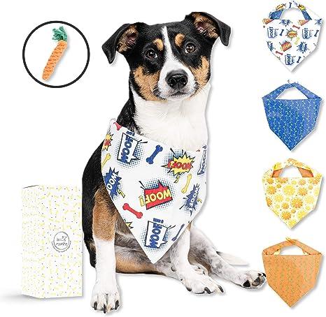 Amazon.com: Juego de 2 pañuelos de algodón para perros, para ...