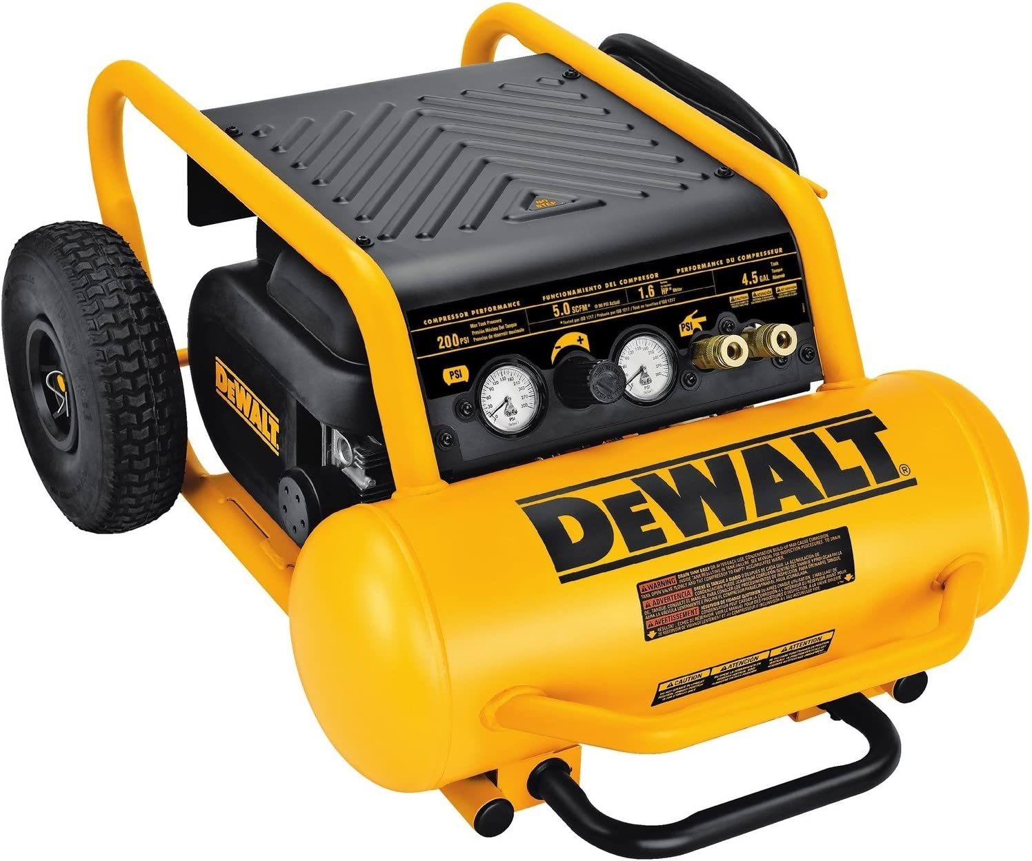 DEWALT Air Compressor, 225-PSI Max, Hand Carry with Wheels