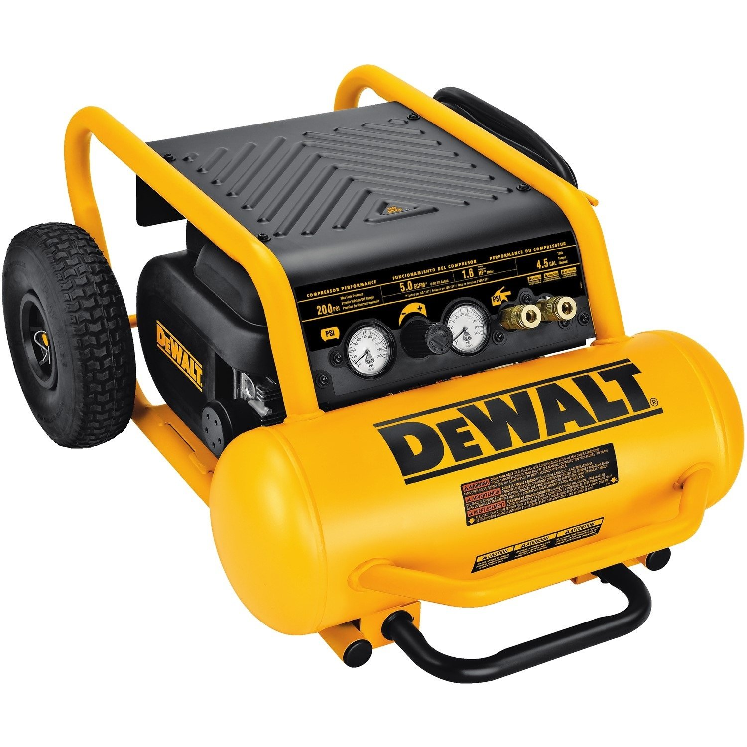 DEWALT D55146 4-1/2-Gallon 200-PSI Hand Carry Compressor with Wheels by DEWALT