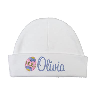 Custom Easter Baby hat for Baby Girl with Embroidered Easter Egg - Baby  Girl Easter hat 325d129a38e3
