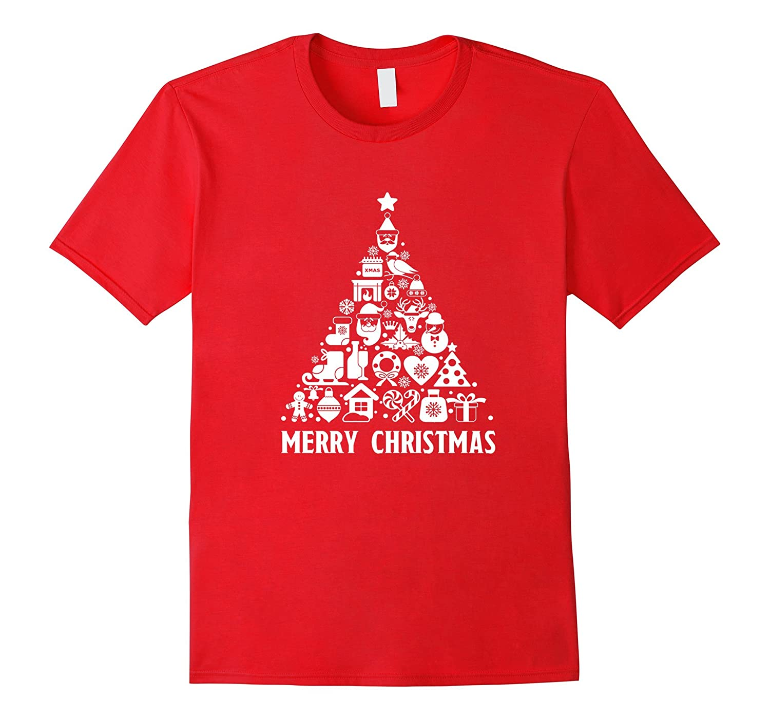 Beautiful Merry Christmas Tree Decoration T Shirt for All-CL
