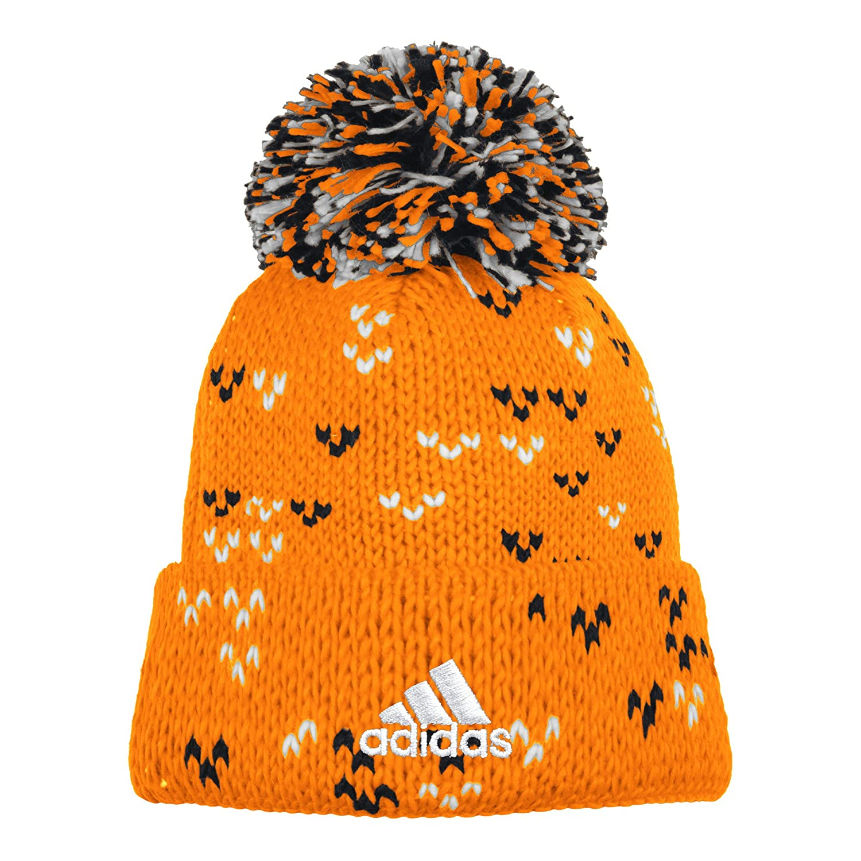 5b4beb0fc84 Amazon.com   adidas MLS Houston Dynamo Women s Fan Wear Cuffed Pom Knit  Beanie