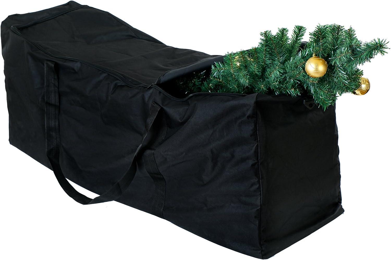 BRAMBLE! Bolsa de Almacenamiento Grande para Árbol de Navidad y Decoraciones| Organización y Protección para Accesorios y Ornamentos| Resistente, Anti-UV & Impermeable| para Árboles hasta 4,7 M(9Ft).: Amazon.es: Hogar