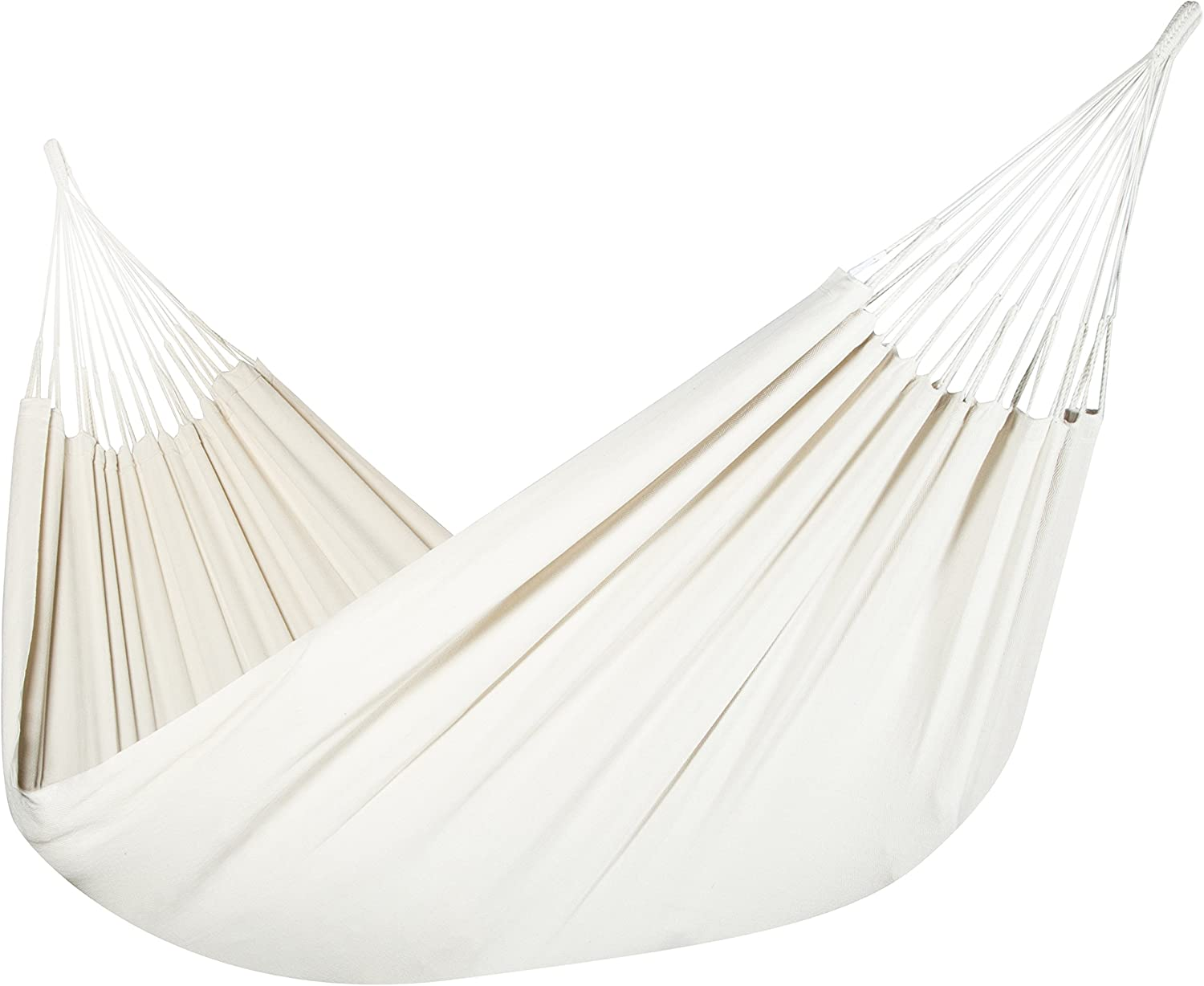 Jumbo Colombian Hammock – Double 63 x 95 inches – Natural Cotton Cloth Natural