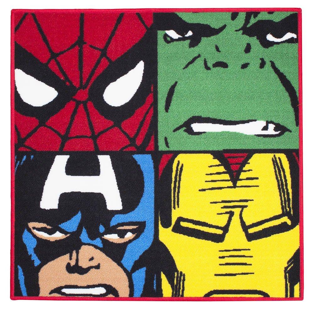 Marvel Comics Defenders Carpet Rug Mat Spiderman Hulk Captain America Iron Man