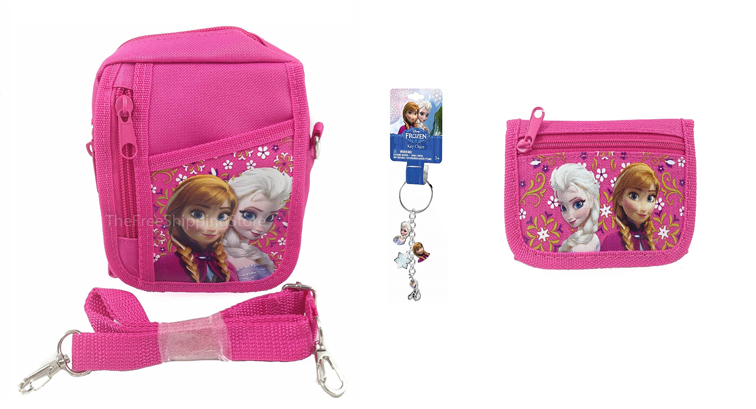 Disney Frozen Queen Elsa Camera Bag, Wallet and Key-chain Combo