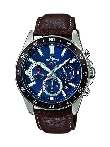 922f83d9ef31 Casio Reloj Analógico para Hombre de Cuarzo con Correa en Cuero EFV-570L-2AVUEF   Amazon.es  Relojes