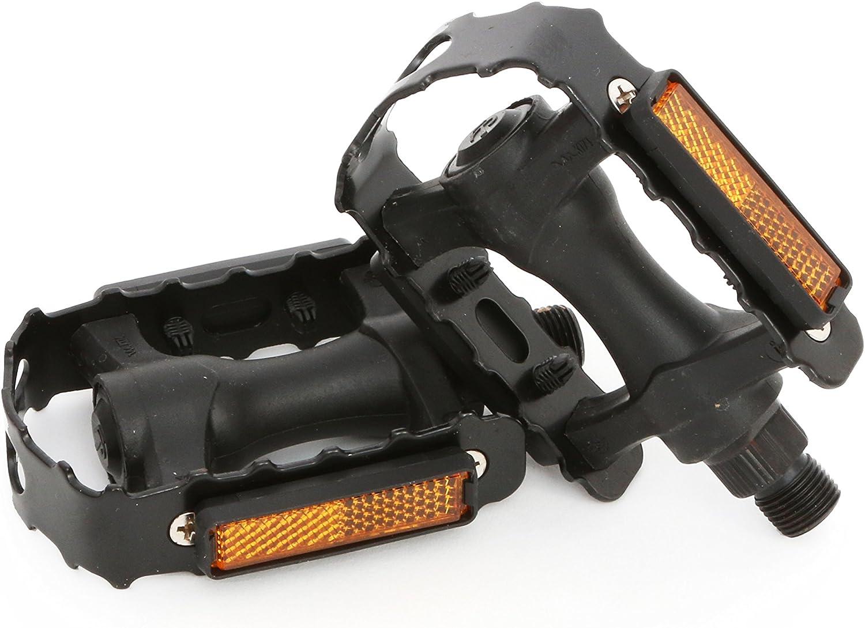 Talla /Única MSC Bikes FP917BK Pedales refractantes para Plataforma de Aluminio Negro