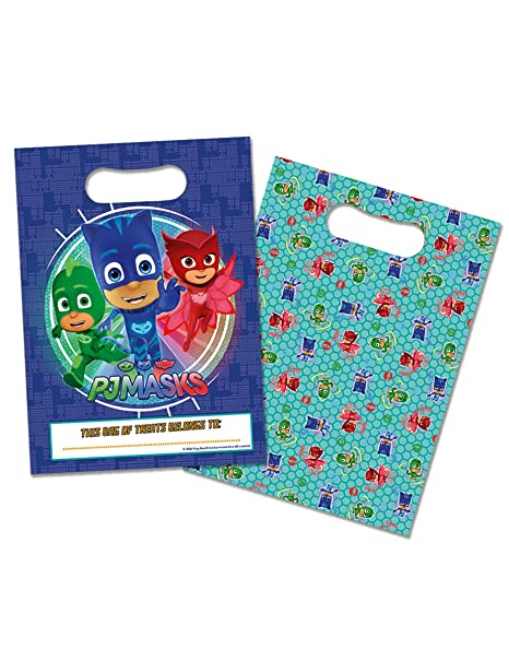 Lote de 8 bolsita Surprise pjmasks pyjamasques - regalo ...