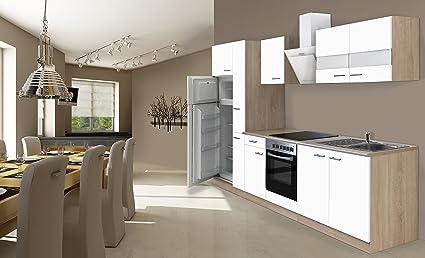 respekta Incasso cucina cucina riga 300 cm Rovere sonoma grezzo ...