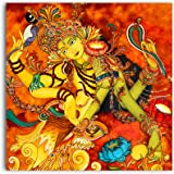 Tamatina Ardhnarishwar Shiva Modern Indian Art Canvas Wall Painting, 3X3ft (Fabric, Large, Multicolour)