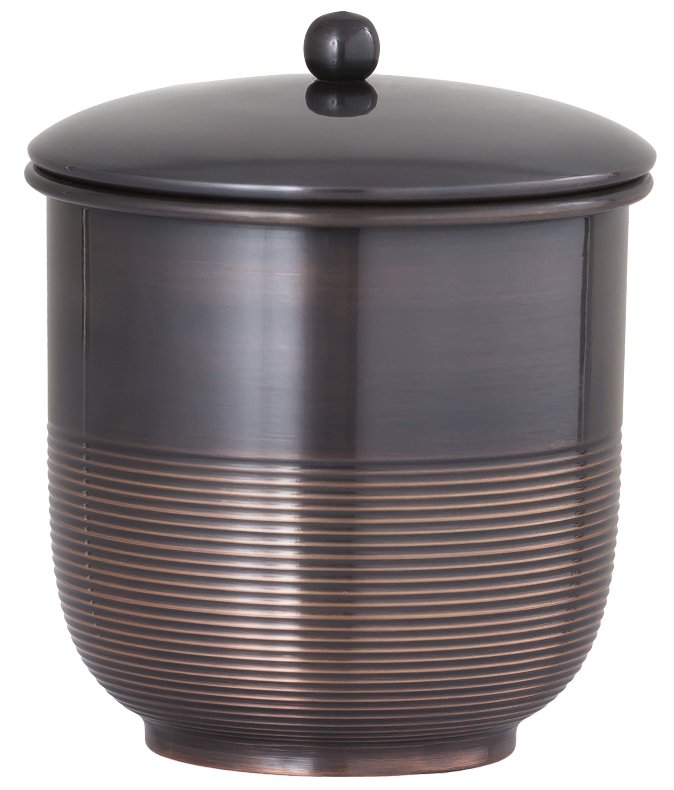 Buffalo Brand Trading Company, Heavyweight Brass, Oil Rubbed Bronze Finish, Cotton Jar, 3.5 Inches by 3.75 Inches