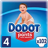 Dodot Pants Pañal-Braguita Talla 4, 102 Pañales, Fácil