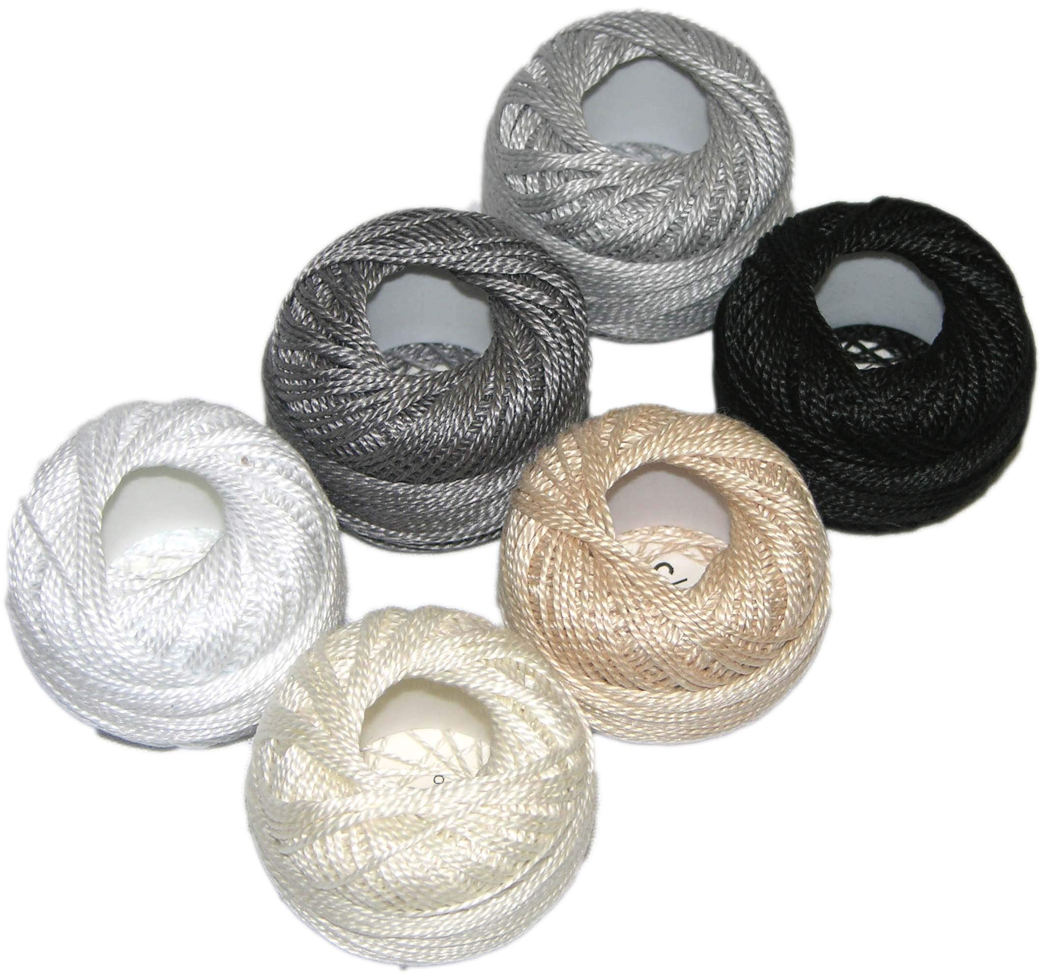 Pearl Cotton Size 12 Thread Sampler Pack Neutral