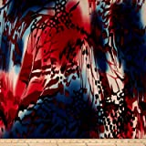 Telio Brazil Stretch ITY Knit Abstract Red Fabric By The Yard