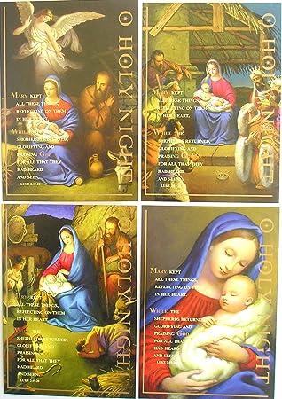 Amazon.de: 8 Stück traditionelle religiöse Weihnachtskarten Oh ...