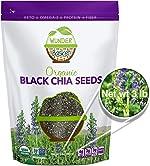 Wunder Basket Organic Chia Seeds, 3 LB Bag, Natural Raw Black