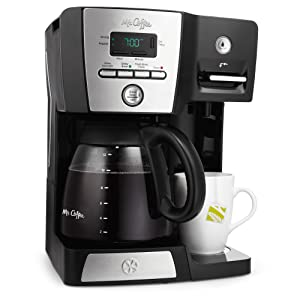 Mr. Coffee 12-Cup Programmable Coffeemaker with Integrated Hot Water Dispenser