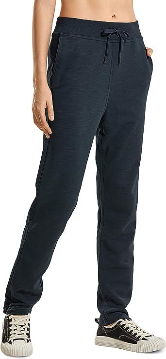 CRZ YOGA Femme Pantalon de Sport Longue Pants Sweatpants avec Poches
