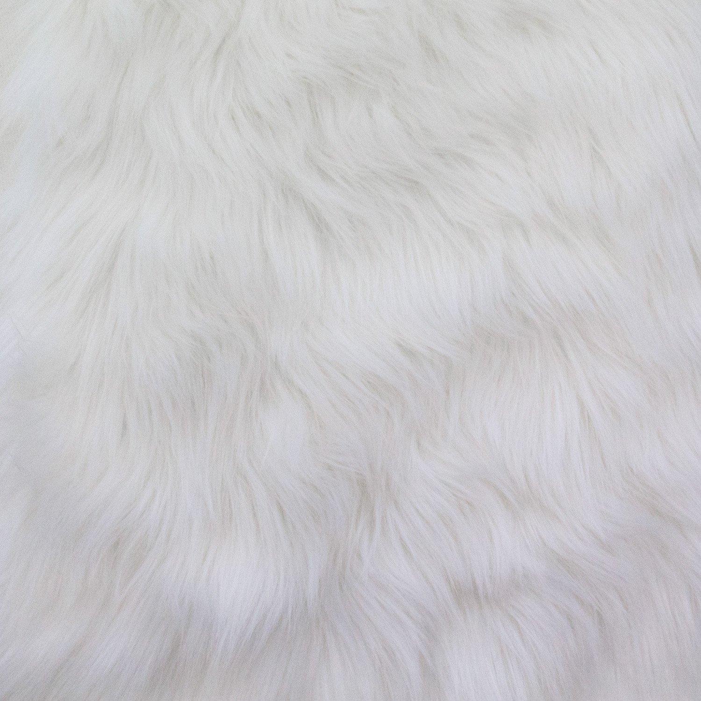 Faux Fur Luxury Shag White 60 Inch Wide Fabric By the Yard (F.E.®)