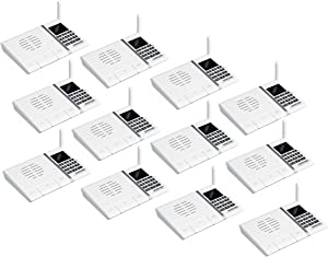 Wireless Intercom System, SAMCOM FTAN20A 20 Channels 3 Code Security Ultra-Thin Room to Room Intercom with Display Screen 1000FT Long Range for Home and Office (12 Units)