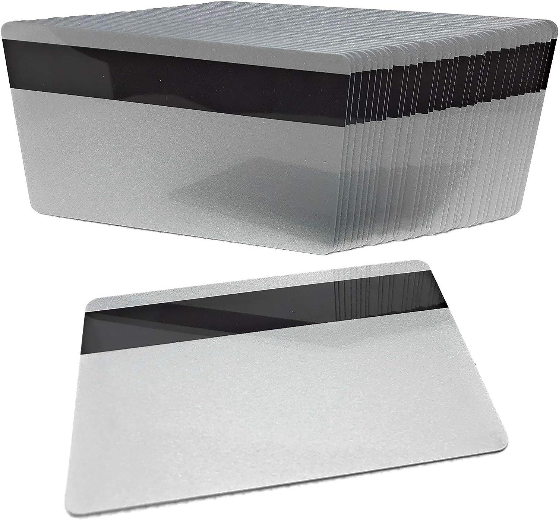 100 PVC Plastic Cards White CR80 30 Mil Hi Co Magnetic Mag Stripe