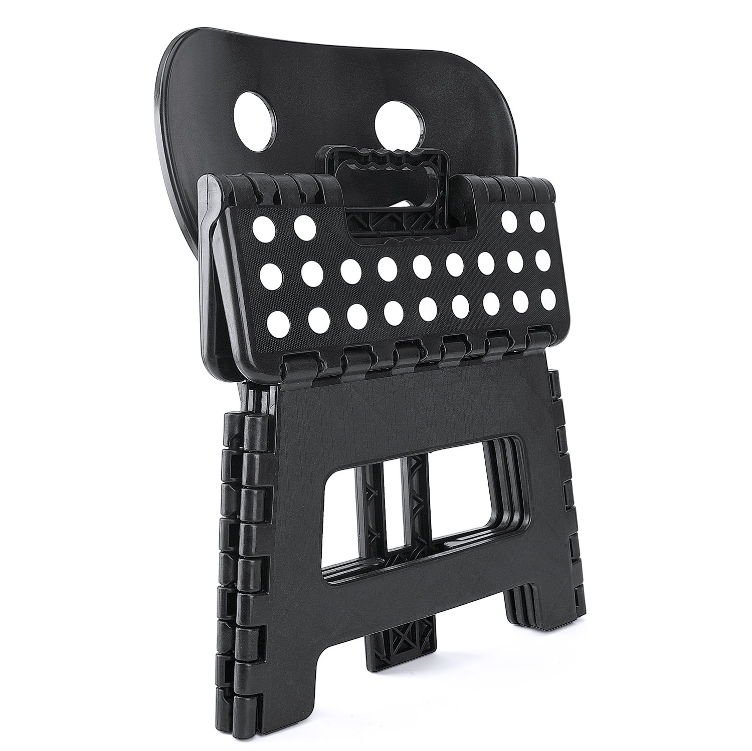 Folding Step Stool With Back Support Plastic Non Slip