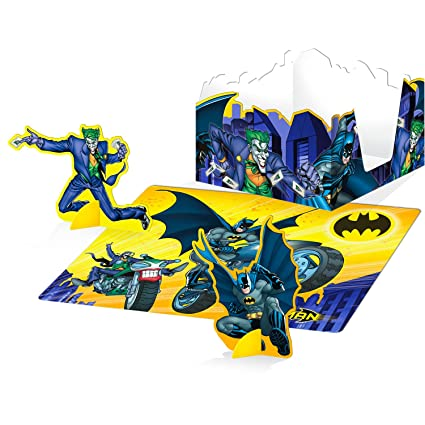 Amazon Com Hallmark Batman Brave And Bold Punch Out Table