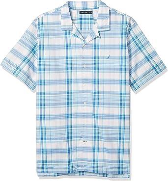 Nautica Big & Tall Camisa de cuadros con botones para hombre: Amazon.es: Ropa y accesorios