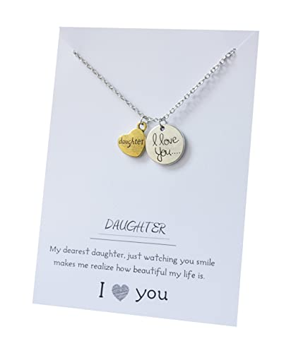 Amazon.com: Hija I Love You To The Moon joyas colgante ...