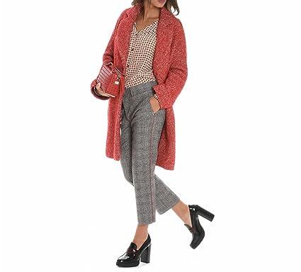 Mantel damen rot wolle