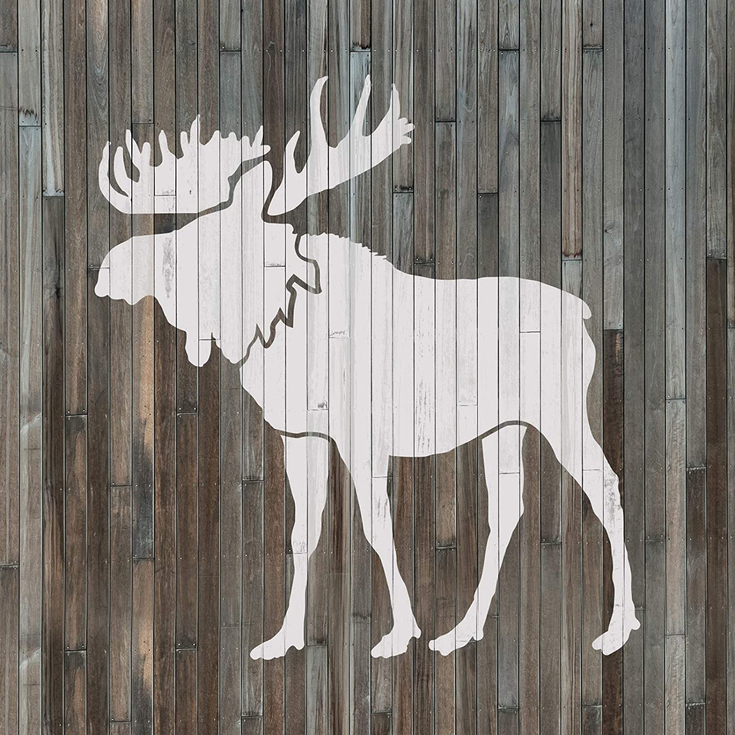 Moose Stencil Template for Walls and Crafts Reusable Stencils for Painting in Small /& Large Sizes