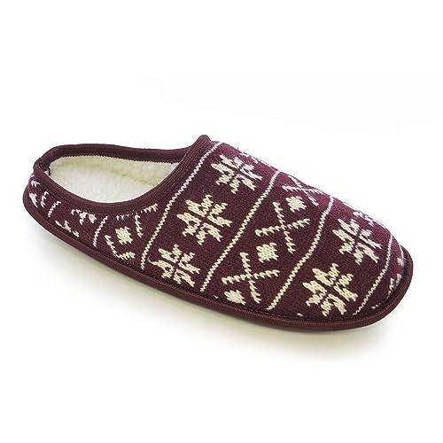 Amazon Universal Textiles Mens Knitted Fairisle Snowflake
