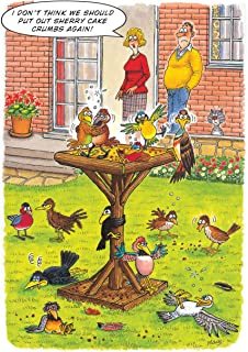 DRUNKEN BIRD TABLE HUMOUROUS BIRTHDAY CARD THE FUNNY SIDE OF LIFE