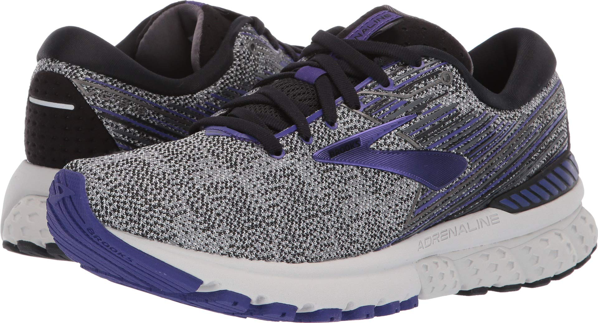 Brooks Women's Adrenaline GTS 19 Black/Purple/Grey 12 B US by Brooks