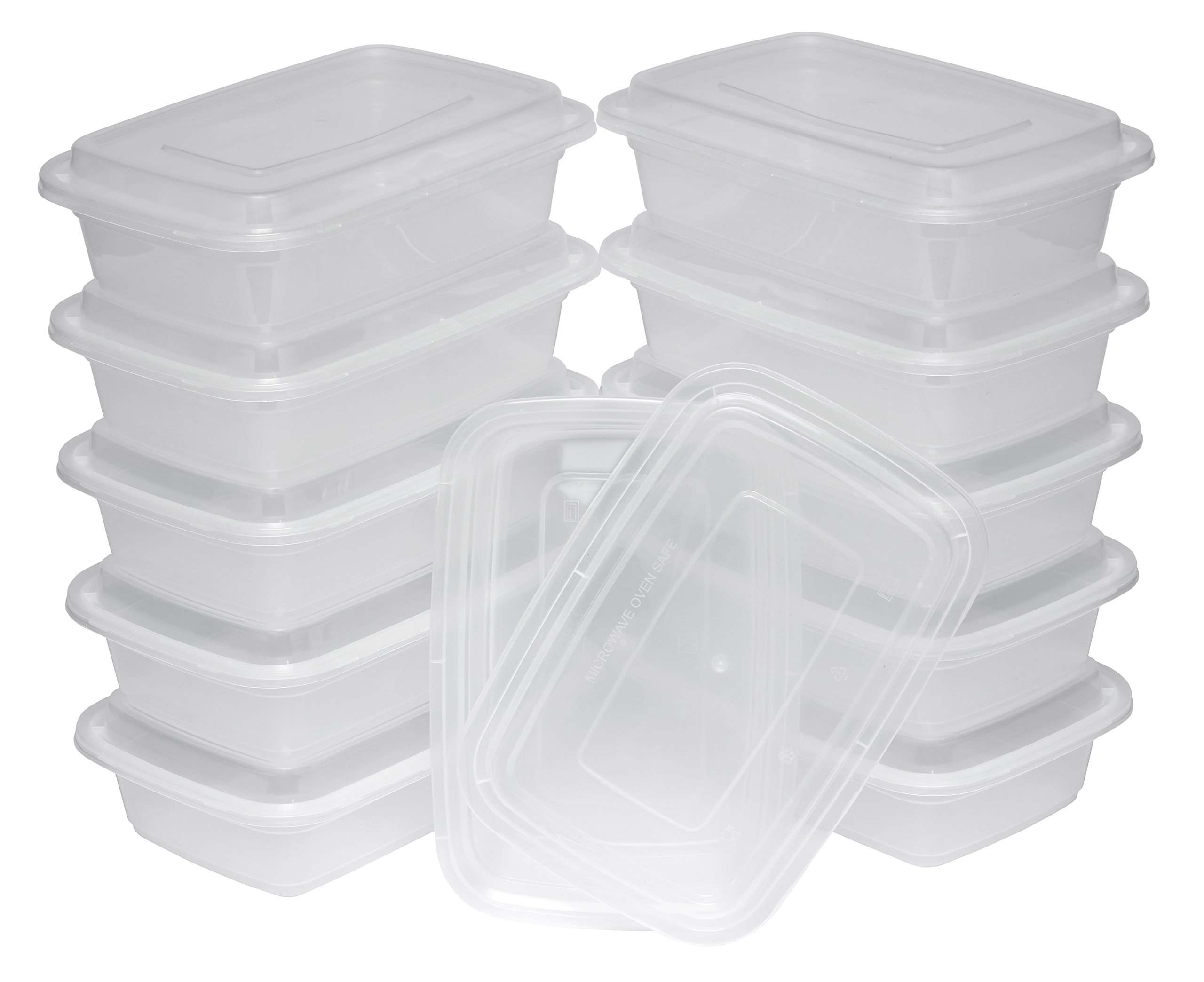 TTG 300-Pack Bento Lunch Boxes with Lids (1 Compartment/ 32 oz) | Microwaveable, Dishwasher & Freezer Safe Meal Prep Container | Reusable Dish Set for Prepping, Portion Control & More (Opaque White) by Table To Go (Image #1)