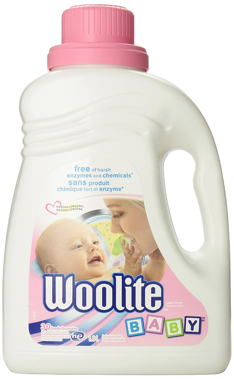Woolite Baby, Hypoallergenic Laundry Detergent, Free Of Harsh Chemicals,  Standard & He, 18 L: Amazon: Health & Personal Care