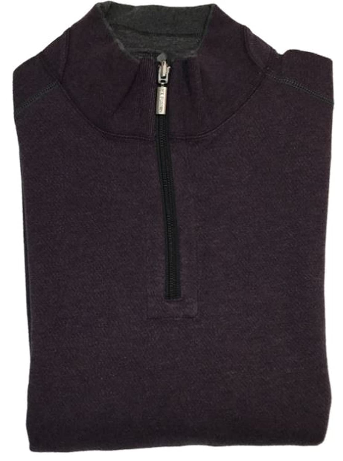 Cheap F/X Fusion FX Fusion Big & Tall 1/4 Zip Solid Reversible Sweater (Large, Concord Heather) hot sale