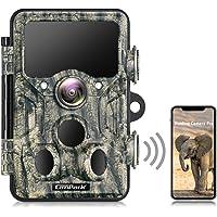 Campark Wildlife Camera WiFi Bluetooth 20MP 1296P Trail Camera con 940nm No Glow IR LEDs Visión nocturna IP66…