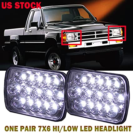 7x6 / 5x7 inch led headlight for toyota pickup truck upgrade pair sealed  beam h6014 h6054