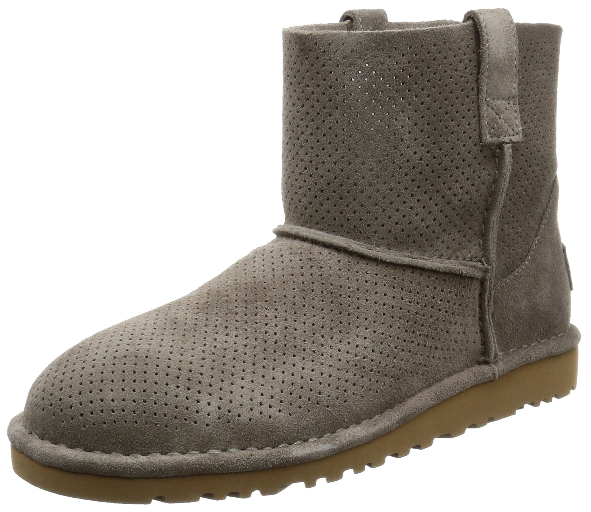 UGG Women's Classic Unlined Mini Perforated Spring Boot, Mole, 11 B US